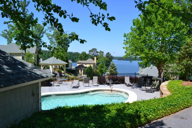 Pool Overlooking Lake