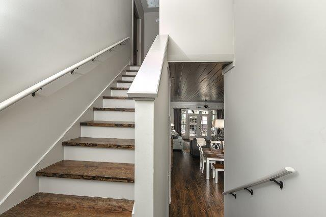 Beautiful wooden stair treads